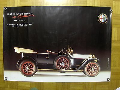 AFFICHE Centre internationnal de l'automobile PARIS Pantin Alfa Roméo H68XL95CM