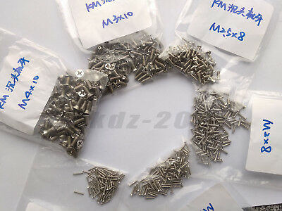 M1.2 M1.4 M1.6 M1.7 Ni-Plated Machine Screws Set for Laptop/Keyboard/Phone/DIY