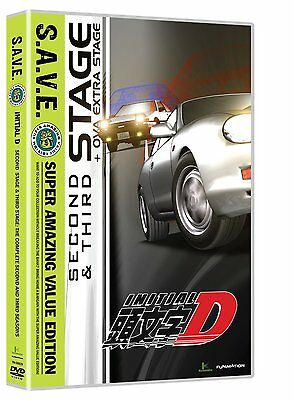 Initial D . Second & Third Stage + OVA . The Complete Season 2 & 3 Anime . 4 DVD
