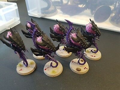 Warhammer 40k Tyranids 6 Zoanthropes with 2 Neurothrope fully painted