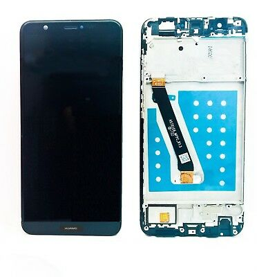 Display Lcd Touch Screen Vetrino Per Huawei P Smart Fig-Lx1 Nero Biadesivo Frame
