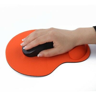 Comfort PC Laptop Solid Mouse Mat Pad With Gel Foam Rest ANTI-SLIP Wrist Support