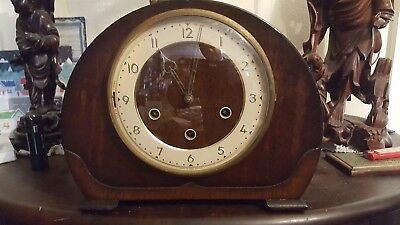 smiths westminster chiming mantle clock
