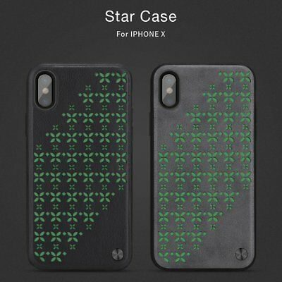 NILLKIN Luminous PU Leather Phone Case Flower Pattern Cover  For iPhoneX  LOT HZ