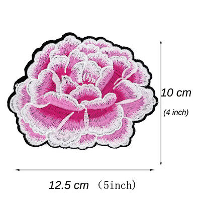 NEW 1/5PCS Roses iron on embroidered patch applique/ sew-on cloth badge