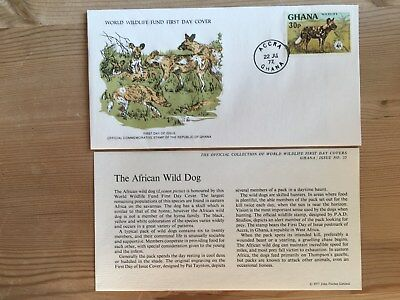 Ghana Wwf Fdc 1977 African Wild Dog Rare Availability Ltd Edition