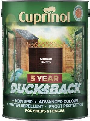 Cuprinol Ducksback 5 Year Protection Clear 5 Litres In Various Colours