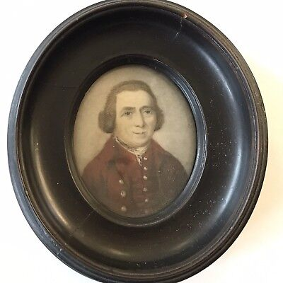 Fine Quality Antique Regency Portrait Miniature Of A Smartly Dressed Gentleman