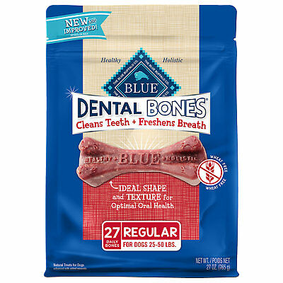 Blue Buffalo Blue Dental Bones Regular Size Dog Treats