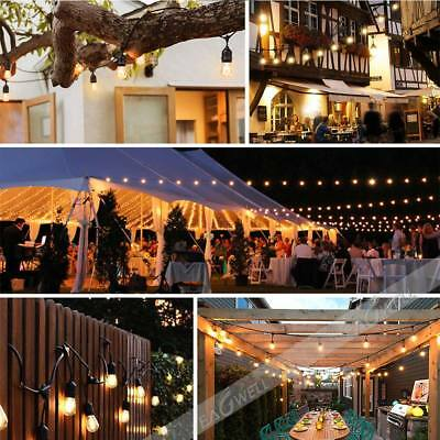 48FT/52FT LED Outdoor Waterproof Commercial Grade Patio Globe String Lights Bulb