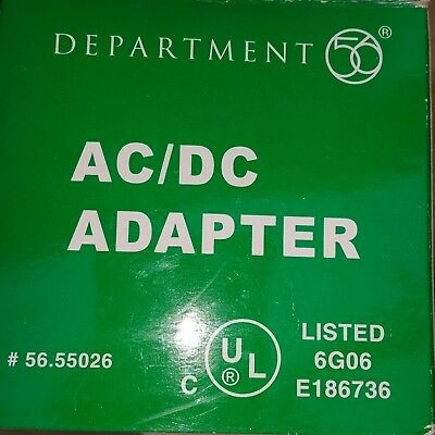Dept 56 AC/DC Adapter White 56.55026 BRAND NEW in Box Free Shipping