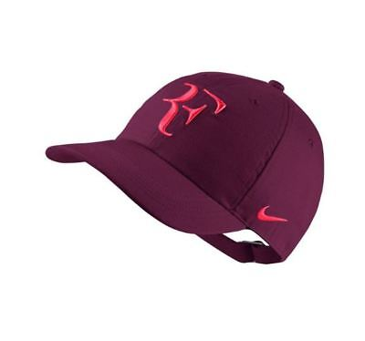 Federer Cap Nike Bordeaux Red Tennis Hat Unisex Adults Heritage  6 Panel Mens