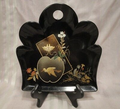 Gorgeous Antique Japanese Maki Gold Silver Fine Quality Lacquer Tray