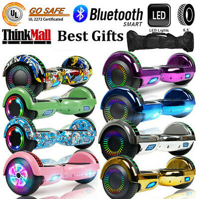 "6.5"" Hoverboard Bluetooth Electric Self Balancing Bag LED Lights Scooter- UL2272"