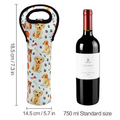 Acelane Neoprene Wine Tote Holders and Carriers Insulated Bag for Champagne
