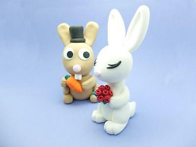 Fimo Bride Groom Wedding Cake Toppers Hand Made To Order 45 00