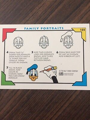 Disney Collector Card, Family Portraits, How To Draw Donald-Card #169