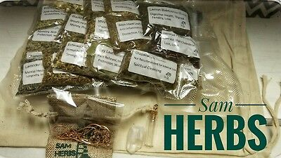 Wiccan herbs, The Kitchen witch's Sample lot, kitchen Herb Samples