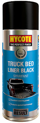 Hycote XUK989 Truck Bed Liner Spray Paint 400ml Aerosol Color Black Protection