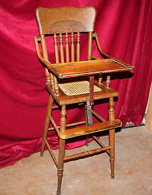 Antique Eastlake Oak High Chair