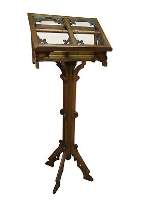 Superb Antique French Gothic Bible Stand, Oak, 1900-20's, Religious