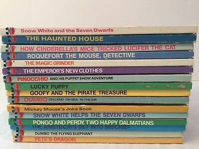 Disney's Wonderful World Of Reading Hardcover Book Lot Home School SNOW WHITE