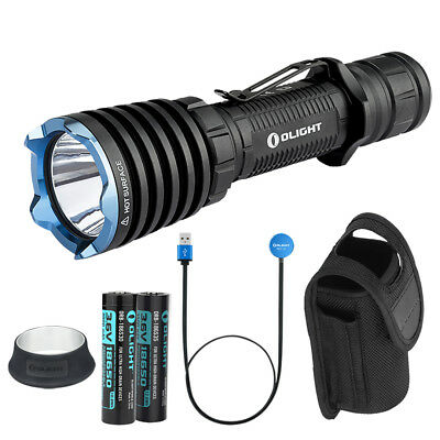 Olight WARRIOR X 2000 Lumen Tactical Flashlight with 2x Rechargeable Batteries
