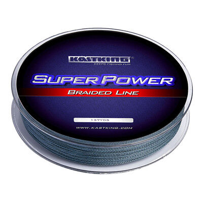 KastKing SuperPower Braided Fishing Lines - (150Yds/10LB) Low - Vis Gray