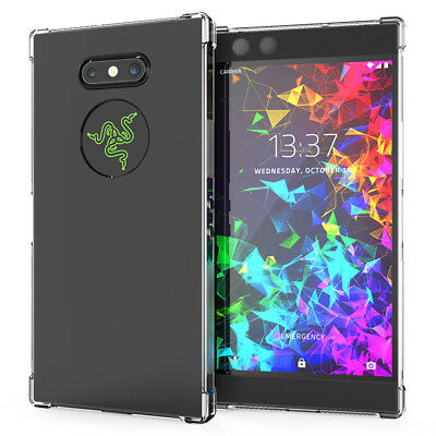 For Razer Phone 2 Case Crystal Clear Transparent Shockproof Slim Silicone Cover