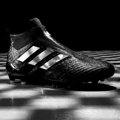buy popular c1944 0b8c7 adidas Ace 17+ Purecontrol FG Football Boots Core Black Chequered Laceless