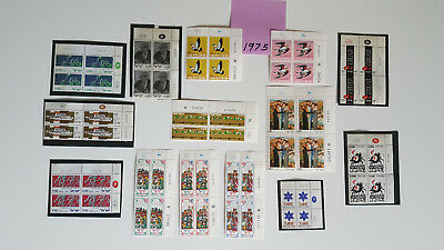 Israel 1975 *21* Plate Blocks Of 4  Mnh