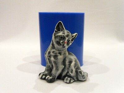 "/""Cat with a bow/"" plastic soap mold soap making mold mould"