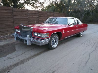 1975 Cadillac DeVille Coupe Deville Running Project Car 1975 cadillac coupe deville
