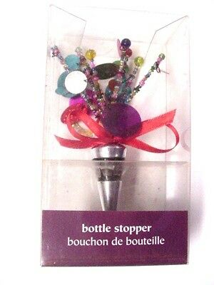 Pier 1 Imports -- Multi Color Beaded Bottle Stopper, Made In India