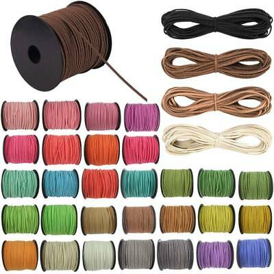 5 Yards Korea Faux Suede Cord Flat Leather Cord Bracelet Neckla Rope 2.9mm