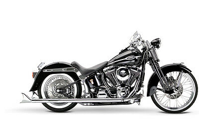 """Samson Motorcycle Exhaust True Dual Exhaust S-470 with 33"""" slipons 95-06 Softail"""