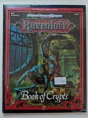 RR2 ADD2 Advanced Dungeons & Dragons 2nd Edition RAVENLOFT BOOK OF CRYPT NEUF VO