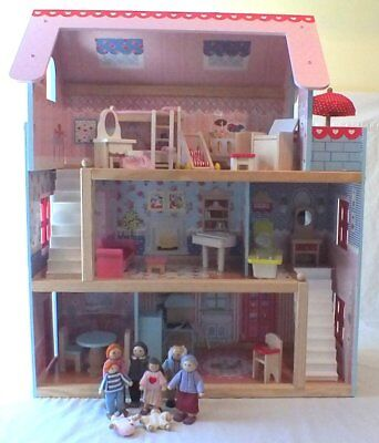 Kidkraft Kids Chelsea Cottage Wood Dollhouse DOLLS Furniture and Extra Pieces