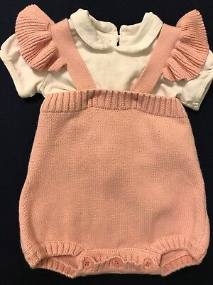 Zara Baby Girl 6-9 Months Clothes 2 Pcs Set Out T-shirt Knit Romper One Piece