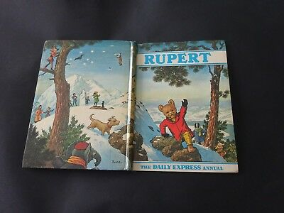 1970 Original Rupert Bear Annual Unclipped 7/6 , Uninscribed, - Very Good