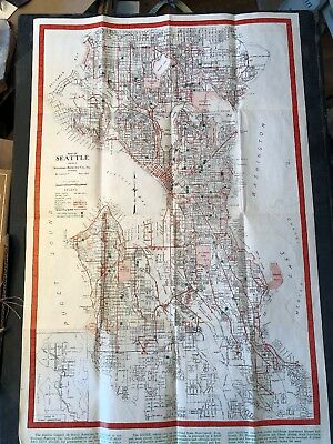 Hard To Find Transit 1948 Seattle WA Newman-burrows 14 1/2 X 22 Inches