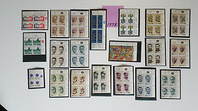 Israel Stamps *40* 1978 Plate Blocks Mnh
