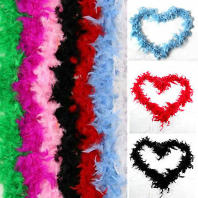 2M Feather Boa Strip Fluffy Craft Costume Night Dressup Wedding Fancy Party Pour