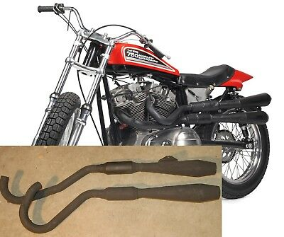 Exhaust for XR750 Harley Davidson  XR 750 Ex-Factory Racer HD Flat Track 1978/80