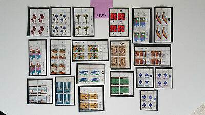 Israel Stamps *27* 1979 Plate Blocks Mnh