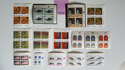 Israel Stamps *29* 1976 Plate Blocks Mnh