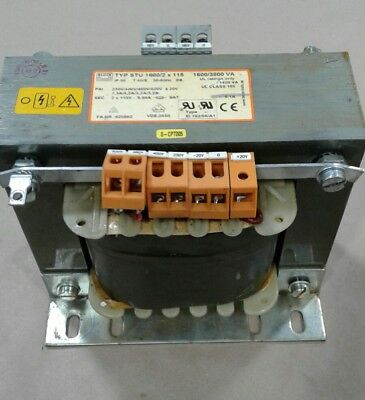 BLOCK TYP STU 1600/2 X 115 Transformer 1600/3800 VA 50/60Hz #1044KW