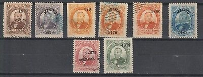 Mexico 1879 lot used overprint thick paper