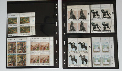 Israel Stamps *49*  1980-1985 Plate Blocks Mnh