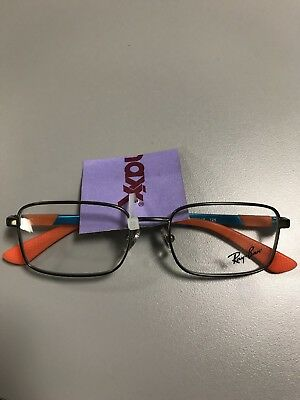 c714ccd6d42 NEW RAY-BAN Kids RB 1043 4020 Orange Blue EYEGLASSES FRAMES Rx 46 16 QLT1